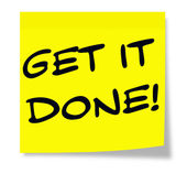 Get It Done Sticky Note — Foto Stock