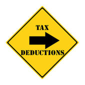 Tax Deductions that way Sign — Stock Photo