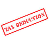 Red Tax Deduction weathered stamp — Stock Photo