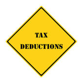 Tax Deductions Sign — Stock Photo