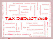 Tax Deductions Word Cloud Concept on a Whiteboard — Stock Photo