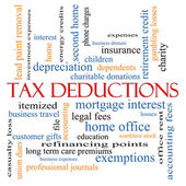 Tax Deductions Word Cloud Concept — Stock Photo