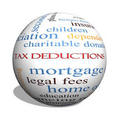 Tax Deductions 3D sphere Word Cloud Concept — Stock Photo