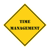 Time Management Sign — Стоковое фото