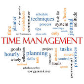 Time Management Word Cloud Concept — Stock Photo