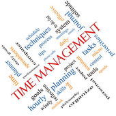 Time Management Word Cloud Concept Angled — Стоковое фото