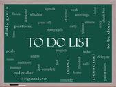 To Do List Word Cloud Concept on a Blackboard — Стоковое фото