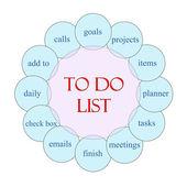 To Do List Circular Word Concept — Стоковое фото