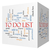 To Do List 3D cube Word Cloud Concept — Стоковое фото