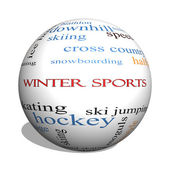 Winter Sports 3D sphere Word Cloud Concept — Stock Photo