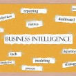 Stock Photo: Business Intelligence Corkboard Word Concept