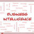 Stock Photo: Business Intelligence Word Cloud Concept on Whiteboard