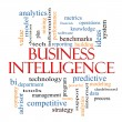 Stock Photo: Business Intelligence Word Cloud Concept