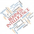 Stock Photo: Business Intelligence Word Cloud Concept Angled