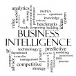 Stock Photo: Business Intelligence Word Cloud Concept in black and white