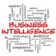Stock Photo: Business Intelligence Word Cloud Concept in red caps