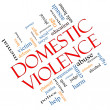 Domestic Violence Word Cloud Concept Angled — Stock Photo #40886567