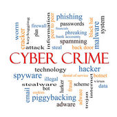 Cyber Crime Word Cloud Concept — Stock Photo