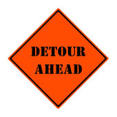 Detour Ahead Sign — Stock Photo