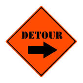 Detour This Way Sign — Stock Photo