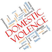 Domestic Violence Word Cloud Concept Angled — Stock Photo