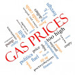 Gas Prices Word Cloud Concept Angled — Stock Photo #41177825