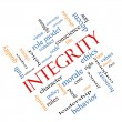Stock Photo: Integrity Word Cloud Concept Angled