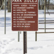 Stock Photo: Park Rules