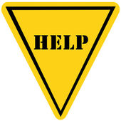 Help Triangle Sign — Stock Photo