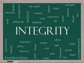Integrity Word Cloud Concept on a Blackboard — Stock Photo