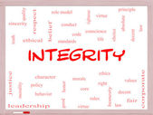 Integrity Word Cloud Concept on a Whiteboard — Stock Photo