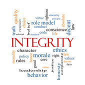 Integrity Word Cloud Concept — Stock Photo