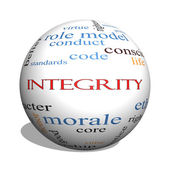 Integrity 3D sphere Word Cloud Concept — Stock Photo