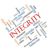 Integrity Word Cloud Concept Angled — Stock Photo