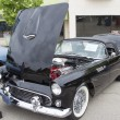 Stock Photo: 1955 Black Ford Thunderbird