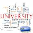 University Word Cloud Concept with mouse — Stock Photo