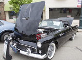 1955 Black Ford Thunderbird — Stock Photo