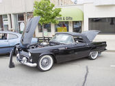1955 Black Ford Thunderbird Side View — Stock Photo