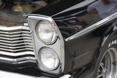 1965 Black Ford Custom 500 Headlights — 图库照片