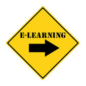 E-Learning that way Sign — Zdjęcie stockowe