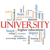 University Word Cloud Concept — Stock Photo