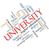 University Word Cloud Concept Angled — Stock Photo
