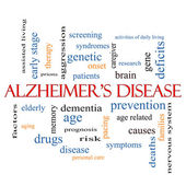 Alzheimer's Disease Word Cloud Concept — Stock Photo