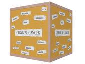 宫颈癌三维的多维数据集软木砖词概念 — 图库照片