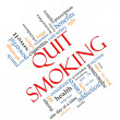 Stock Photo: Quit Smoking Word Cloud Concept Angled