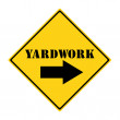 Yardwork that way Sign — Stock Photo #41363849