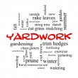 Yardwork Word Cloud Concept in red caps — Stock Photo #41364125