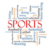 Sports Word Cloud Concept — Stock Photo