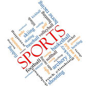 Sports Word Cloud Concept Angled — Stock Photo