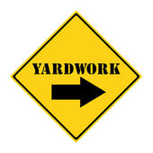 Yardwork that way Sign — Stock Photo